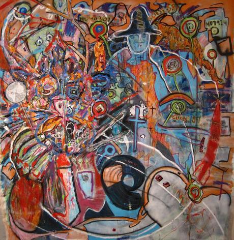 thumbnail for Its A Lollipop World/ Chupa Chup Mundo, mixed media on 70 x 66