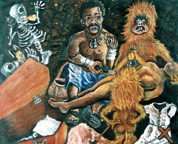Ngiyazisa ngomafungwase wakwethu (I am crying for our elder sister, 2001)