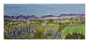 Yvette Polovin    Elgin blue    acrylic on canvas      400x880    R4000