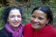 Sandra and Lisa in Meiringspoort