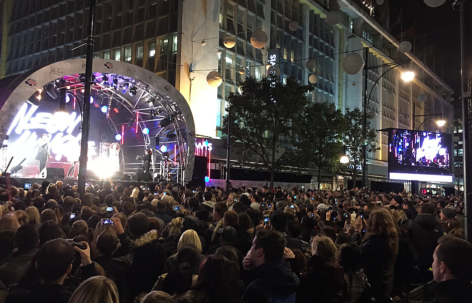 The Oxford Street Christmas Lights switch-on 2015