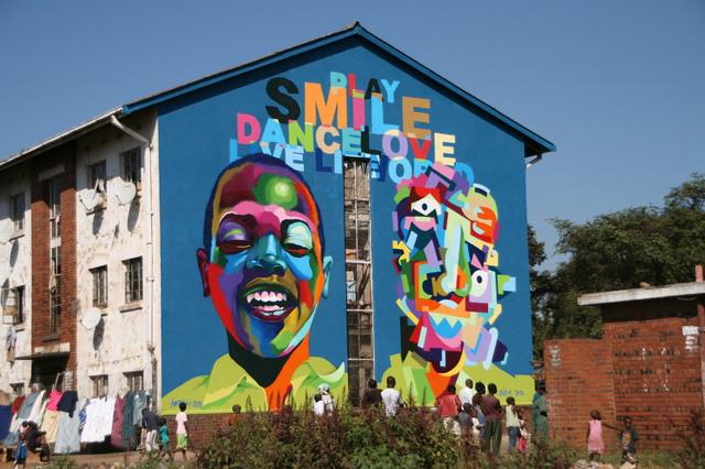 Country Zimbabwe Graffiti South Africa