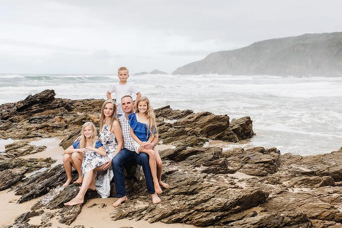 Family Photos on the beach in Herolds Bay