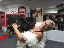 Lynne & dancer partner Pieter. They have been dancing together for 23 years.