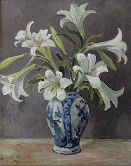 Still life with St. Joseph's lillies - SOLD