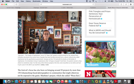 Newsweek.com - Article on Joburg Umbrella and my images from 'Uprooted - The People of Sophiatown'