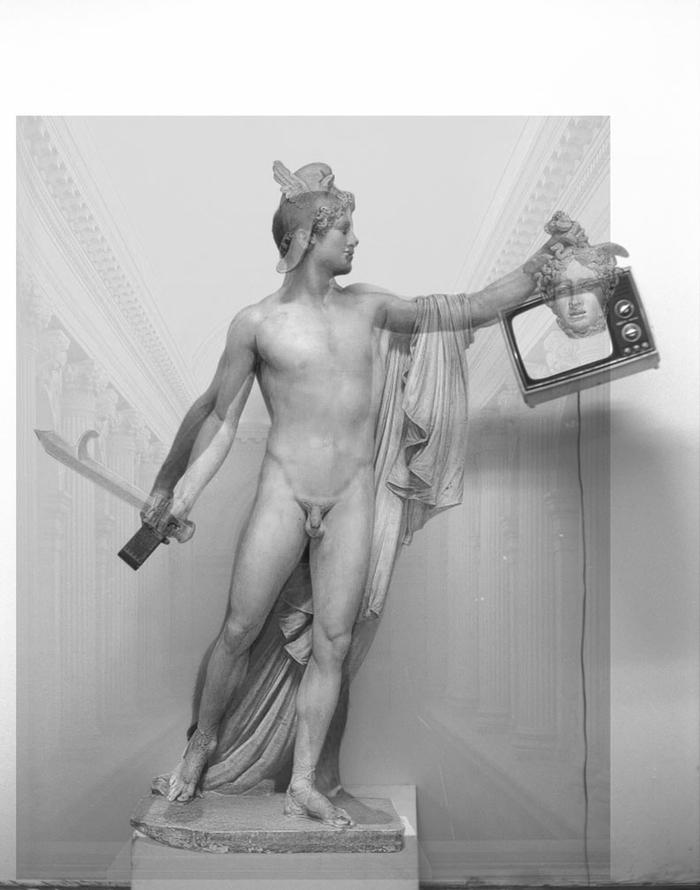 self portrait as Perseus, after Canova, 1996