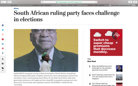 Washington Post (US) - South African Local Elections