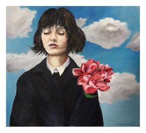 Niki Diamond    Hide and Seek    Oil on Canvas    80 x 70cm    R 5500