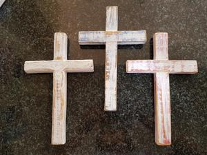Wooden Cross, 15 x 16 x 3cm, 2cm deep R120