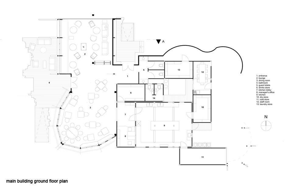 Main building ground floor plan