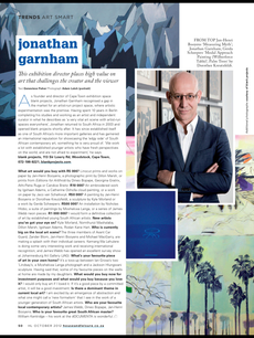 Jonathan Garnham - Founder and Exhibition Director of Blank Projects, Cape Town.