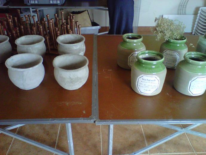 Prepping vases