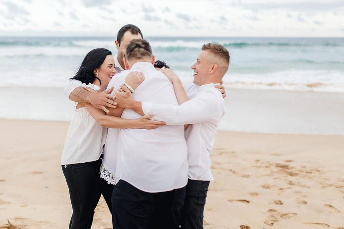 Beach Family Photoshoot and Proposal - Visagie Family