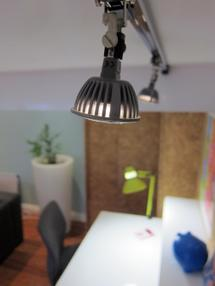 Above desk track lighting