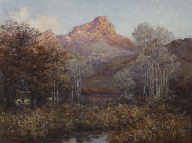Hugo Naudé: Badsberg, Slanghoek Mountains - SOLD
