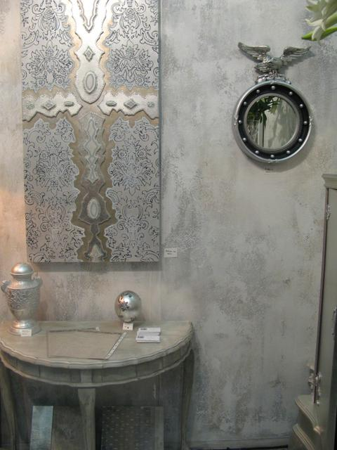 Decorex stand: chalky aged walls