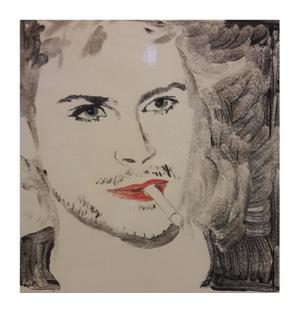Frances White monoprint 2  38 x38 cm  R3500