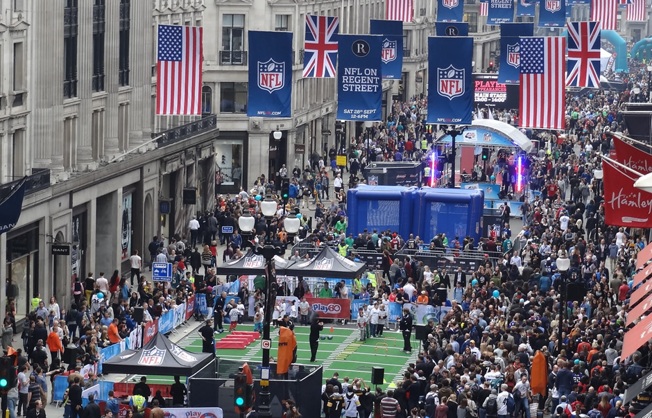 NFL on Regent Street 2013