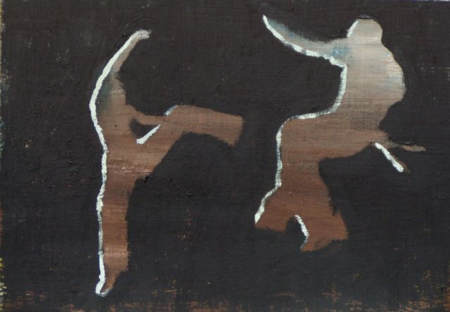In the Air, Oil on board, 15,5 x 23,5 cm, 2003