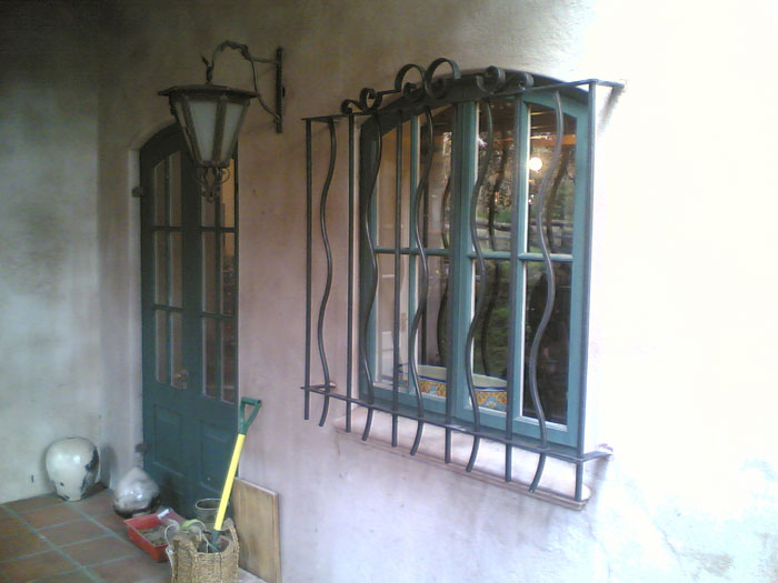 Forged burglar bars