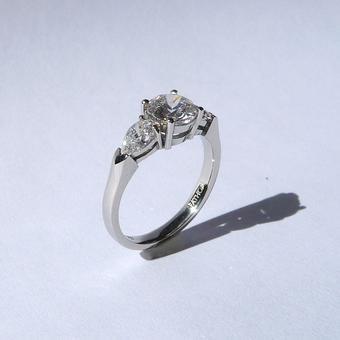 thumbnail for Diamond Trilogy ring in Platinum