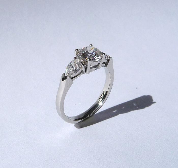 platinum gold and palladium engagement rings