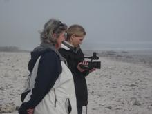 Director Jane Kennedy with camerawoman Karen Landsberg