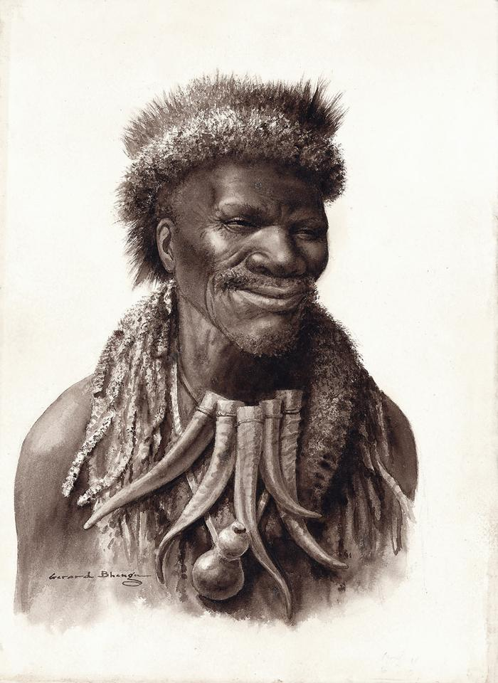 Portrait of a smiling Inyanga