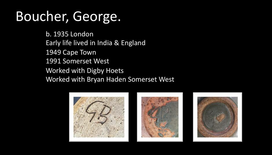 KERROD MODERN - South African Pottery Marks & Monograms