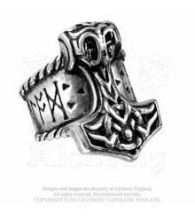 R171 Thors Runehammer ring