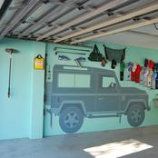 landrover mural-private commission Cape Town