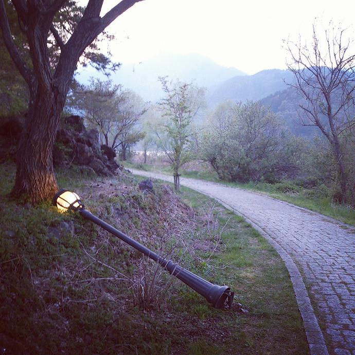 Magic Lantern along Lake Kawaguchiko
