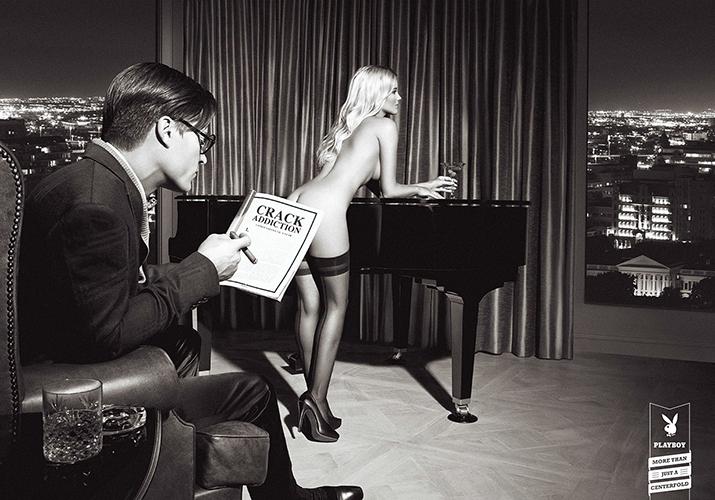 Playboy: Crack Addiction Печатная реклама, aгентство: Y&R S