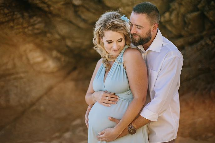 Sunset Beach Maternity Portraits - Luckman Family