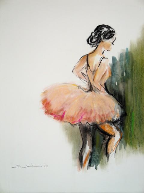 Ballet dancer in green