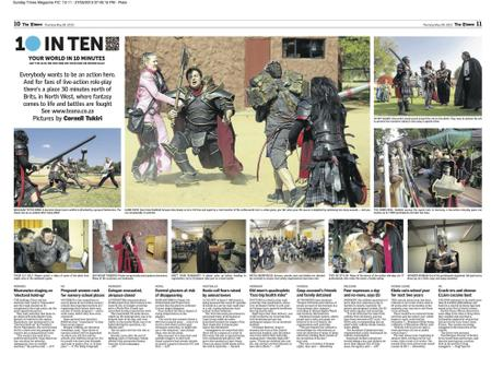 The Times (SA) 10inTen on Live Action Role Play (LARP)