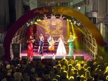 The Masques perform at the Regent Street Christmas Light switch on