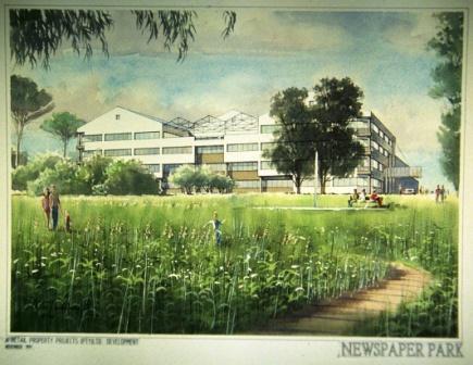 News Paper Park proposal