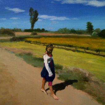 thumbnail for Frauke in Upington. Oil on wood. 40 x 50cm
