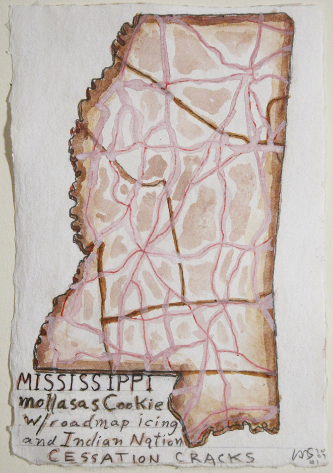 Mississippi Mollasas Cookie w/roadmap icing and Indian Nation Cessation cracks 2009