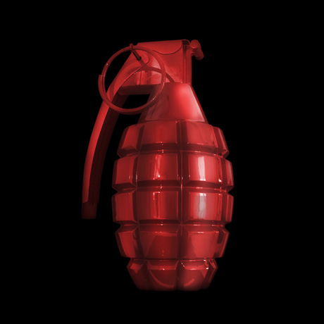A Problem With Beauty, hand grenade sculpture by Michael Elion, 2012
