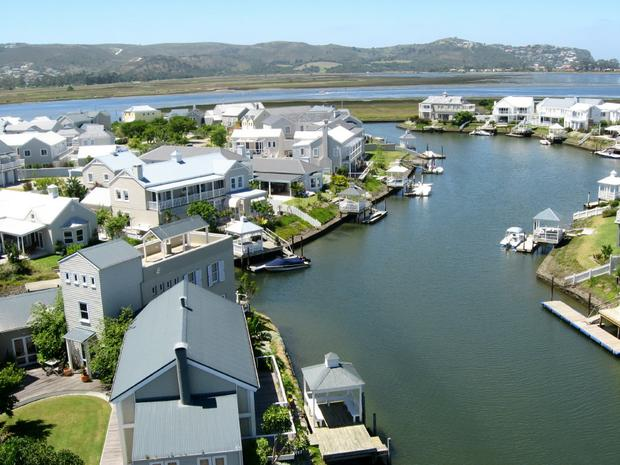 Aerial Photograph Thesen Island Knysna south africa