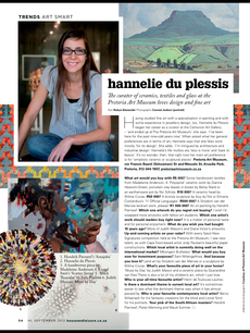 Hannelie du Plessis - Curator of ceramics, textiles and glass at the Pretoria Art Museum