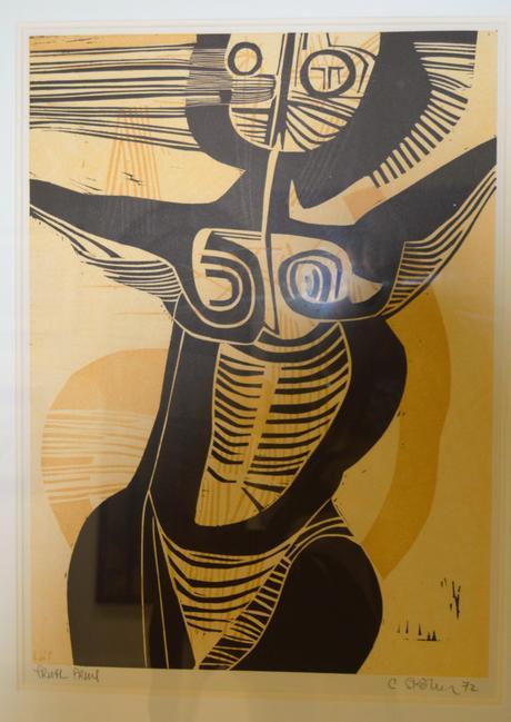 Artist Cecile Skotness - Woodcut