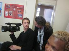 Cameraman Guy Hubbard and director Izette Mostert