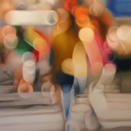 thumbnail for broadway at 10am - 120cm x 90cm, oil on canvas