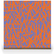 Brush on Colour - Orange on Purple