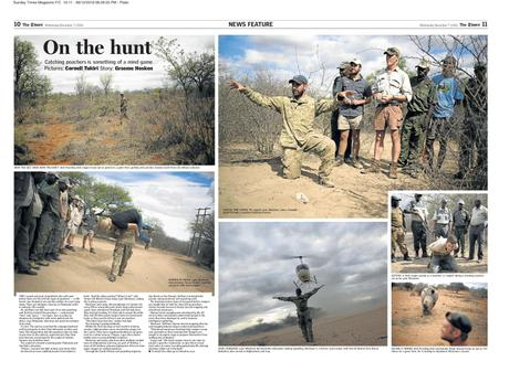 The Times (SA) - 10inTen - On The Hunt: Anti-Rhino Poaching, Limpopo, South Africa