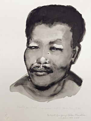 Marlene Dumas - Portrait of a young Nelson Mandela